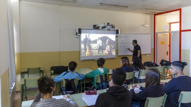 Alumnos del IES Arca Real, en una de las actividades innovadoras que se aplican