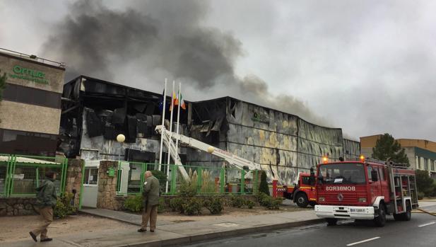 Incendio registrado en la planta de Ornua en Ávila