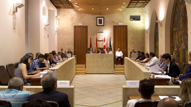 Salón de plenos del Ayuntamiento de Salamanca