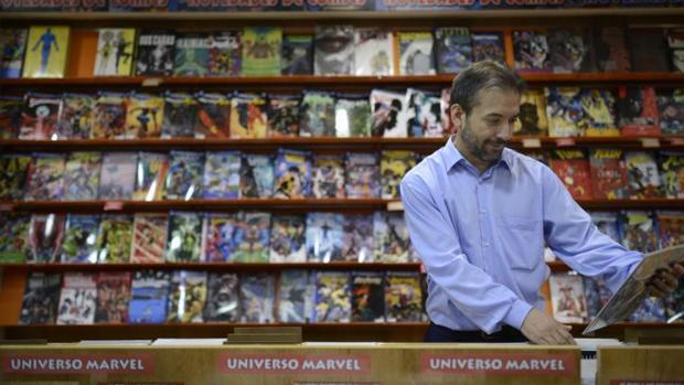 Expositor de la tienda Akira Cómics, en el Barrio del Pilar