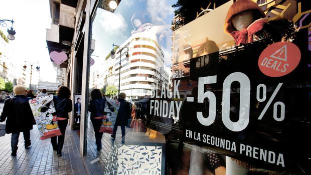 Imagen de una campaña de Black Friday en Valencia