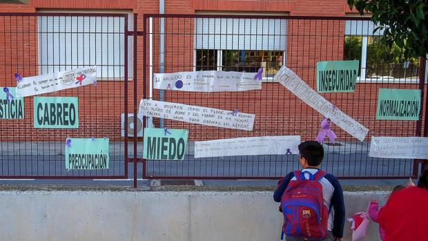 Imagen del colegio de Elda en el que se registró el crimen