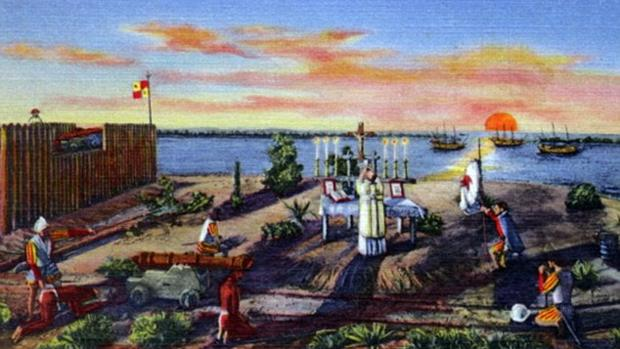 Primera misa en Estados Unidos el 8 de septiembre de 1565