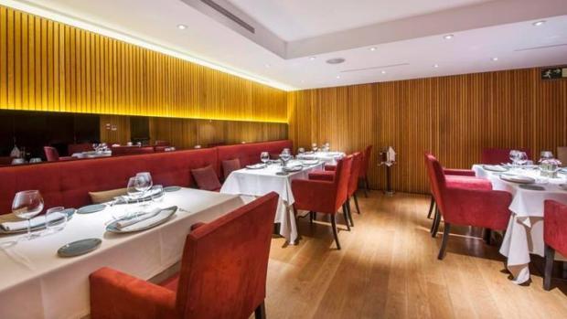 Sala del restaurante Álbora, en Madrid