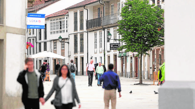 Zona rehabilitada en el casco histórico de Santiago de Compostela