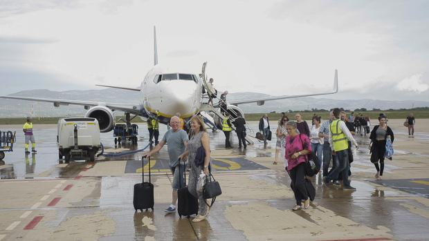 Imagen del primer vuelo comercial del aeropuerto de Castellón tomada en septiembre de 2015