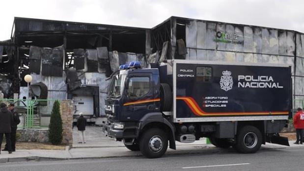 Un incendio declarado en la madrugada del domingo 5 de noviembre destruyó la láctea Ornua, en Ávila