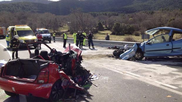 Accidente de tráfico en Ávila