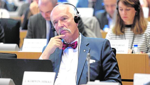 El eurodiputado polaco, Janusz Korwin-Mikke, en una imagen de archivo