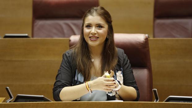 La portavoz de Ciudadanos, Mari Carmen Sánchez, en las Cortes en una imagen de archivo