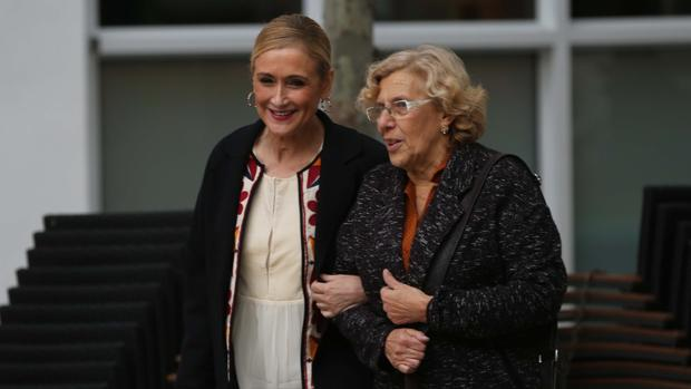 Cifuentes y Carmena, durante un encuentro
