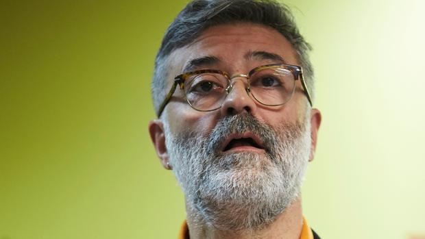El cabeza de lista de la CUP, Carles Riera