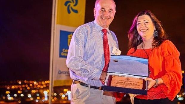 Andrew Bishop y Rosa María Fey, del CIT de Gran Canaria