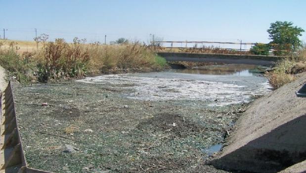 Aguas residuales en la localidad ciudadrealeña de Manzanares
