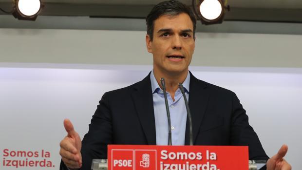 Pedro Sánchez, durante una rueda de prensa