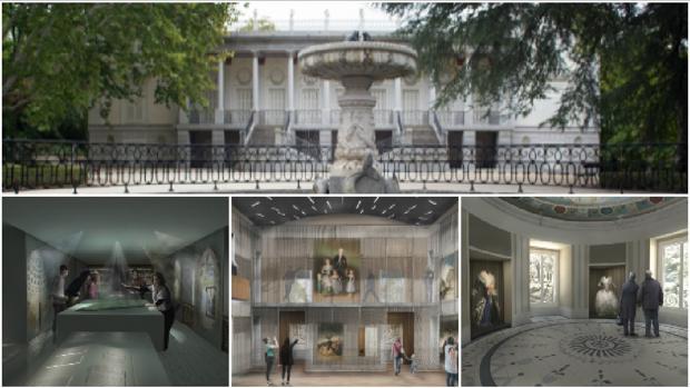 El Palacio de los Duques de Osuna, con las representaciones de las estancias del museo