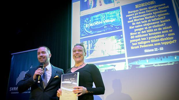 Los periodistas noruegos a la hora de recoger este mes de noviembre el premio