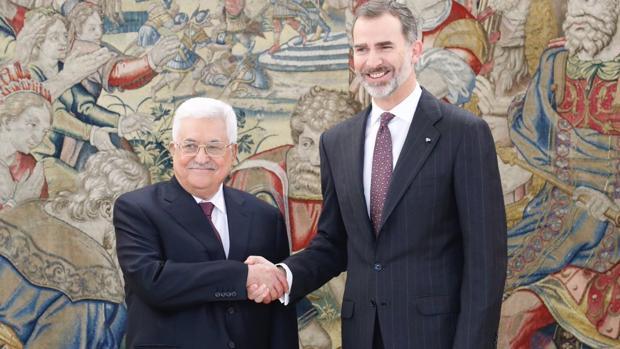El Rey recibe a Mahmud Abbas, presidente de Palestina