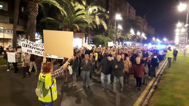Imagen de la manifestación que ha recorrido las calles este jueves en Valencia