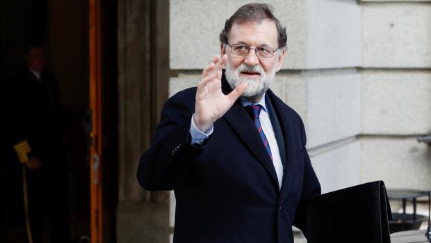 Mariano Rajoy, ayer, en el Congreso de los Diputados