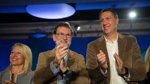 Rajoy y Albiol, en un acto a principios de mes en Barcelona