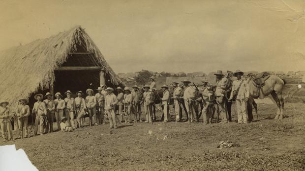 Imagen tomada durante la Guerra de Cuba