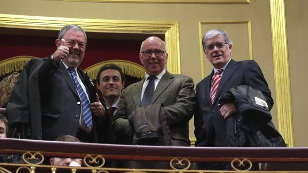 Pedro Azpiazu,Javier Larrañaga, José María Iruarrizaga y José Luis Cimiano