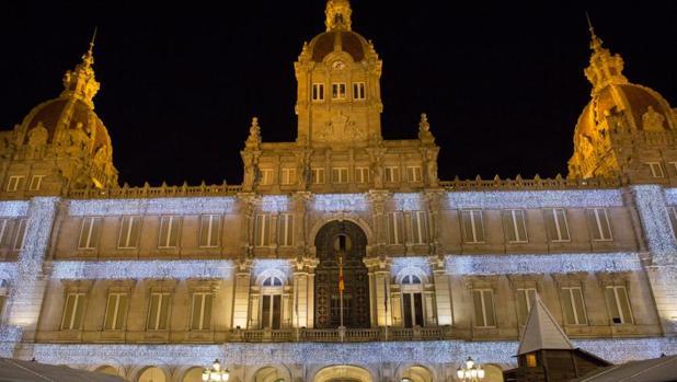 Iluminación de navidad de La Coruña