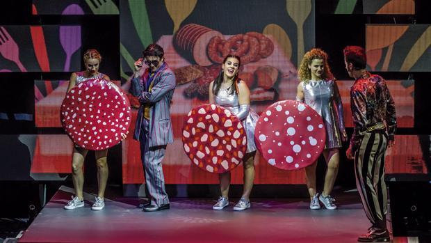 Un momento de la representación del musical «Las tres cerditas»