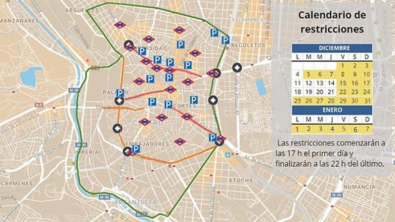 Restricciones Tráfico Madrid Mapa.Guia Para Moverte Por El Centro De Madrid Tras El Cierre De
