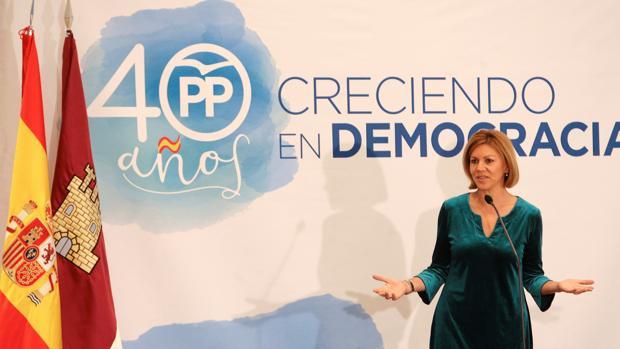 María Dolores de Cospedal, durante el acto del PP en Guadalajara