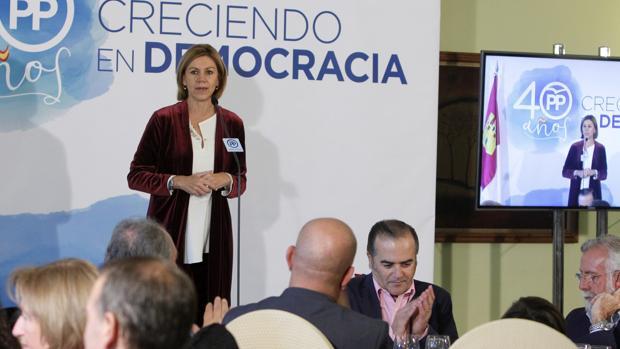 María Dolores de Cospedal, en su discurso durante la comida del PP en Toledo
