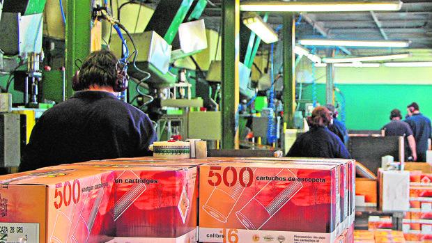 Fábrica de Excopesa, de Nobel Sport España, en León, dedicada a la fabricación de cartuchos