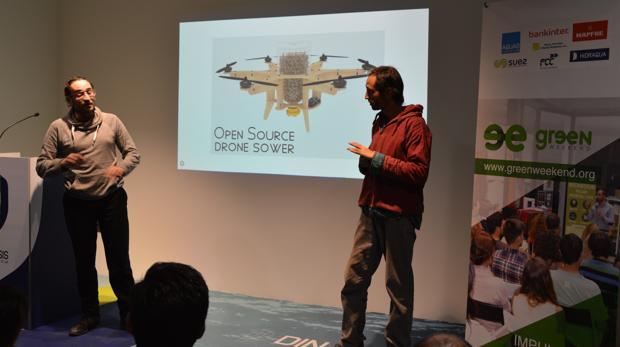 Presentación del proyecto con drones en Greenweekend