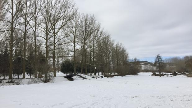 Nieve en Aguilar de Campoo (Palencia)