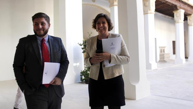 Ignacio Hernando y Patricia Franco, en el Palacio de Fuensalida