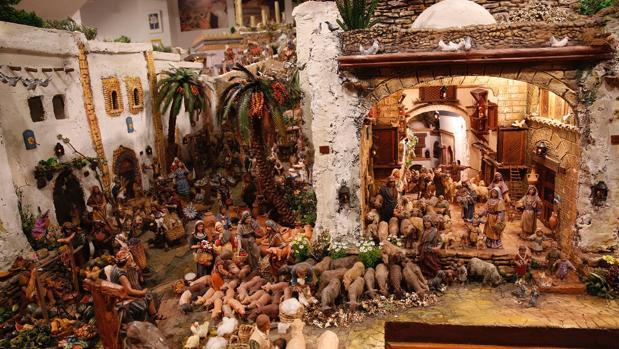 Imagen del belén de Navidad monumental de Meliana