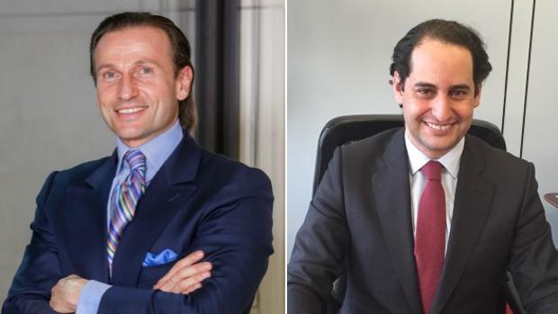 David Hatchwell, presidente de la Comunidad Judía de Madrid, y Raphaël Benatar, portavoz y secretario general