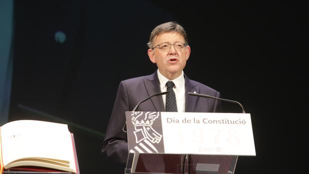 Ximo Puig, en su discurso por el Día de la Constitución