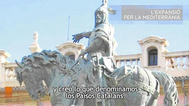 Captura de un video difundido en los últimos años por la Generalitat, en el que se afirma que Jaime I fue el rey de los «Países Catalanes»