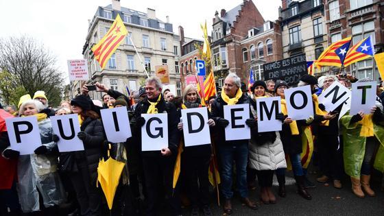 Imagen de la manifestación en Bruselas