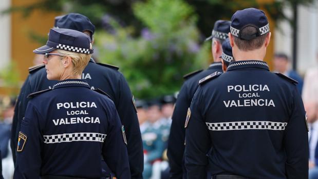 Agentes de la Policía Local de Valencia, en una imagen de archivo