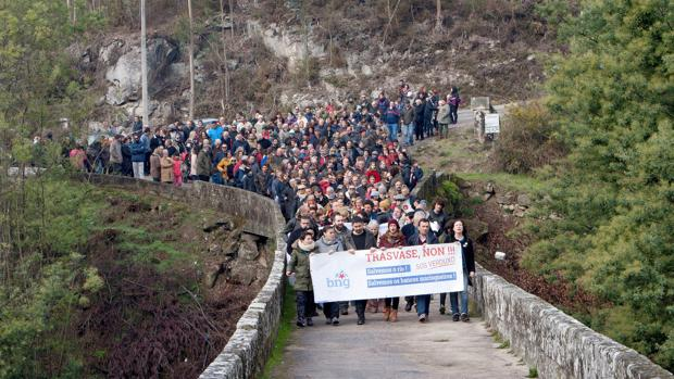 Vecinos de Soutomaior se manifestaron contra el trasvase del Verdugo