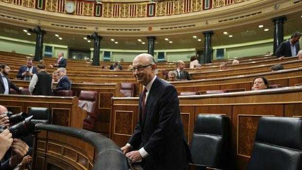 Montoro, en una reciente imagen en el Congreso