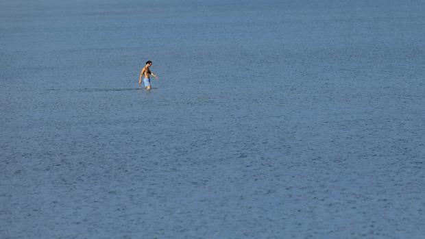 Imagen tomada este viernes en la playa de Las Arenas de Valencia