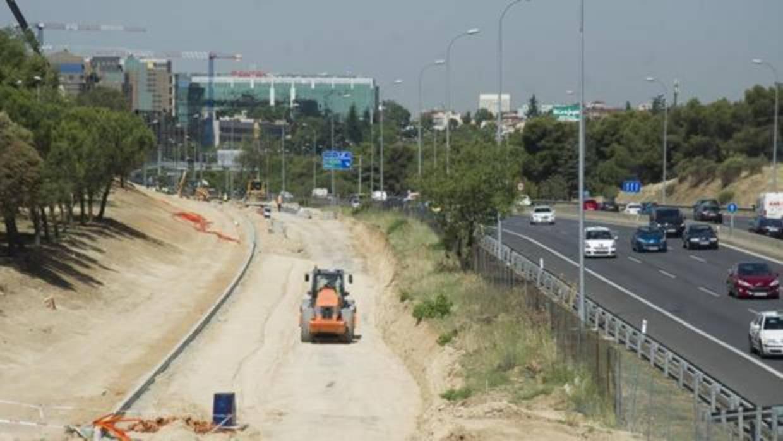 El tráfico de la A-2 se verá afectado a partir de mañana por las obras en la salida de la sede del Banco Popular