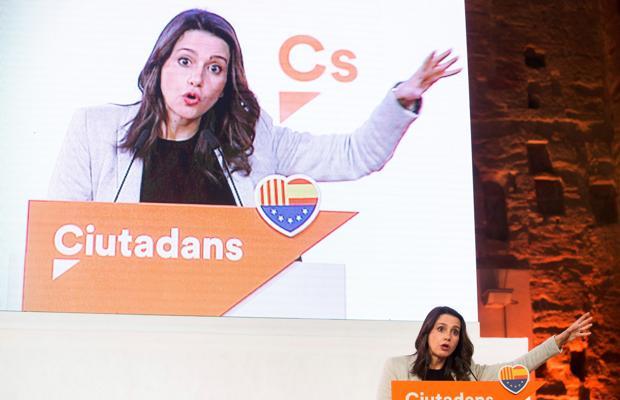 Inés Arrimadas, durante un acto electoral