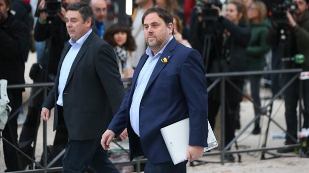 Oriol Junqueras, a su llegada a la Audiencia Nacional el pasado 2 de noviembre