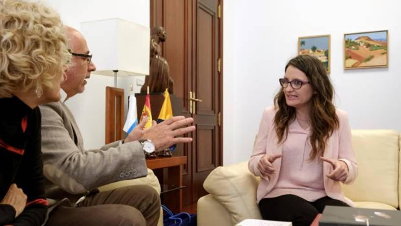 La Fiscalía deja en un posible delito de amenazas leves el acoso ante el domicilio de Mónica Oltra