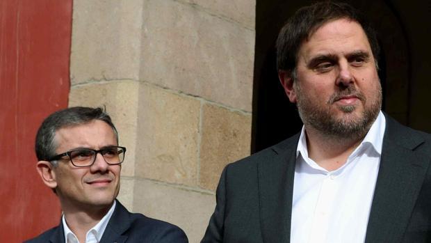 Josep María Jové junto a Oriol Junqueras en septiembre de este año